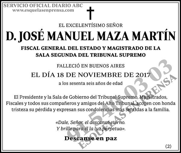 José Manuel Maza Martín